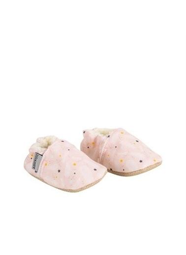 Kids A More Pinky Softy Peluş Kürklü Ilk Adım Kız Patik  Pudra